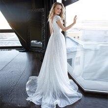 Verngo A-line Boho Wedding Dress 2020 Gowns Elegant Bride V-neck Backless Vestido De Noiva Sereia