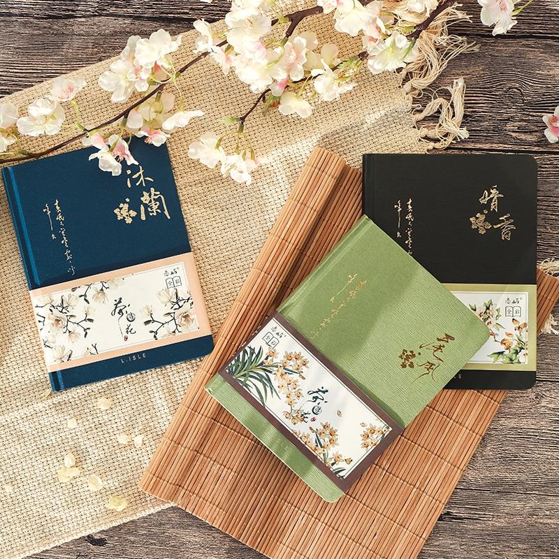 Цветной блокнот с внутренней страницей в китайском стиле, креативный дневник в твердой обложке, книги, Еженедельный планировщик, книга для скрапбукинга, красивый подарок 4