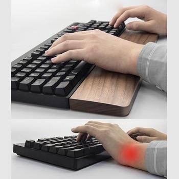 Walnut Wooden Mechanical Keyboard Wrist Rest Ergonomic Wrist Pad 61 87 104 Keys N84A