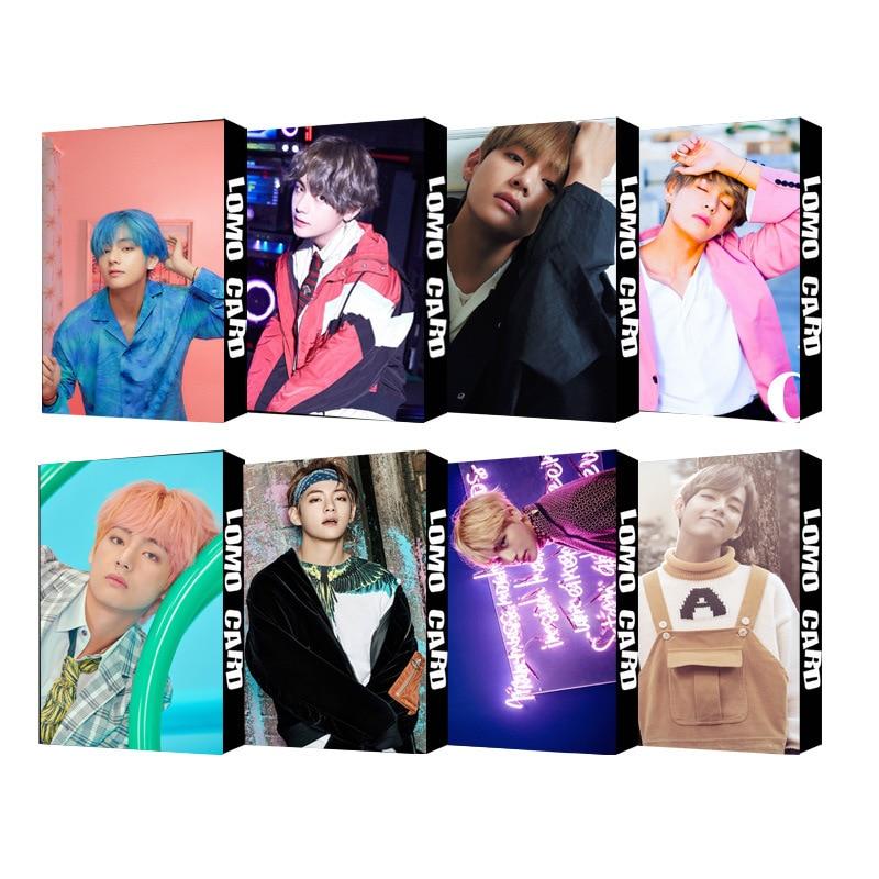 30pcs/set KPOP V Single Photocard Fashion Bangtan Boys Map Of The Soul Persona HD High Quality Photo Card  New Arrivals