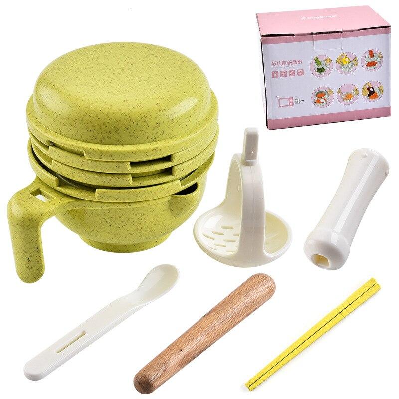 Набор из 10 предметов, Детская шлифовальная пищевая добавка для кормления, измельчающая пища, фруктовые блюда, гигиенический набор для