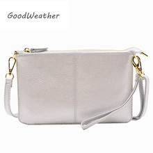 Designer clutch bag for women fashion zipper ladies hand bags genuine leather envelope clutches female with strap clutch purse