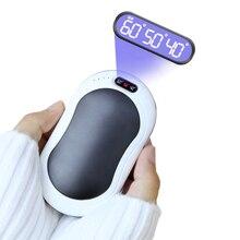 4In1 10000 мА/ч, USB, Перезаряжаемые грелка для рук Мощность Дополнительный внешний аккумулятор с вибрационный массаж светодиодный фонарик двухс...