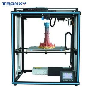 Image 1 - Tronxyアップグレード新X5SA 24v 3Dプリンタdiyキットオートレベル大活字サイズ熱ベッド3d機フィラメント印刷facesheild