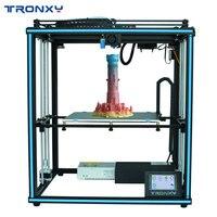 Tronxy actualizado nuevo X5SA 24V 3D impresora DIY Kits Auto nivel de impresión de gran tamaño cama de calor 3d máquina de impresión de filamentos Facesheild
