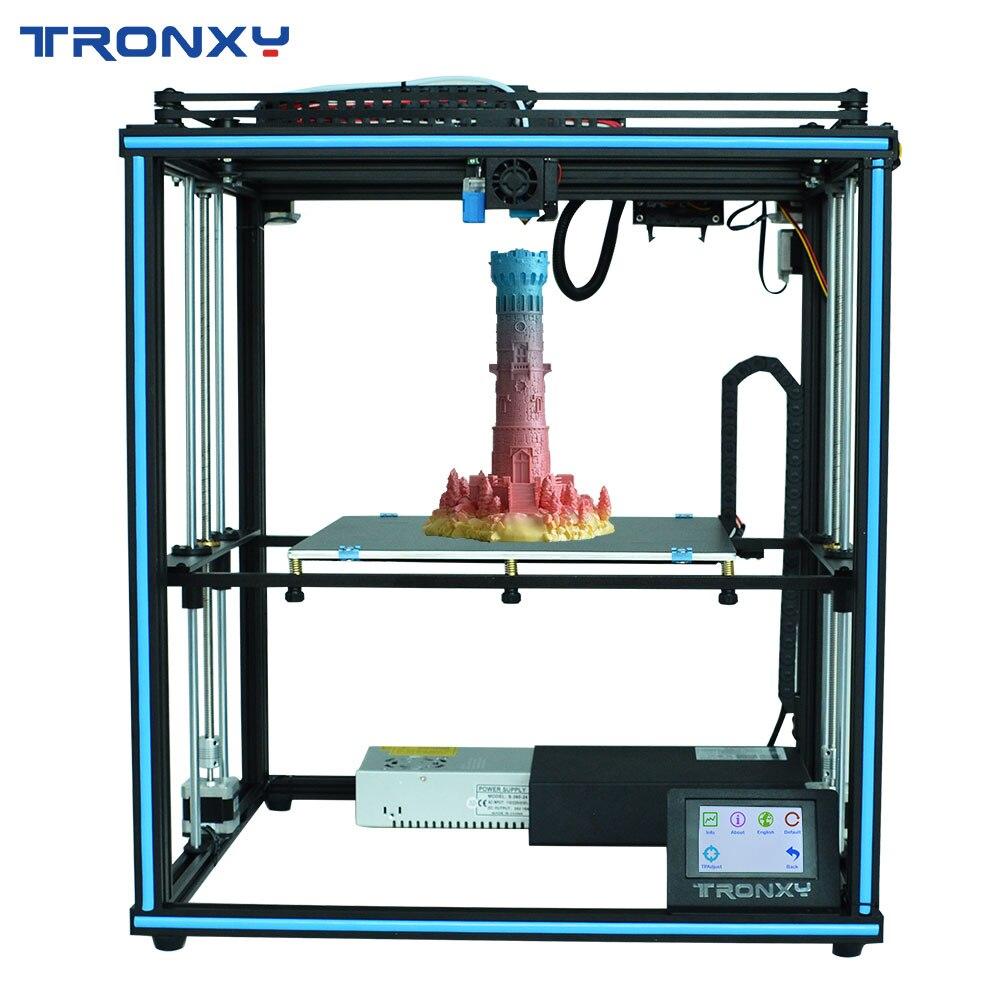 Tronxy atualizado nova x5sa 24 v impressora 3d diy kits de nível automático grande tamanho impressão cama calor 3d máquina filamento sensor