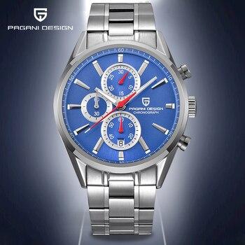 2020 PAGANI DESIGN Quartz Men's Watches Multifunction Fashion Wristwatch Male Waterproof Steel Sport Clock Men Chronograph 2020