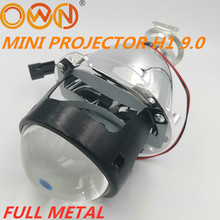 DLAND OWN FULL METAL MINI HID BI XENON PROJECTOR LENS 9.0 2.5 INCH KIT EASY INSTALLATION H1 H4 H7 HB3 HB4 HEADLAMP RHD LHD 2 5 inch mini bi xenon projector lens fit for h1 h4 h7 car headlight headlamp car assembly kit motorcycle free shipping