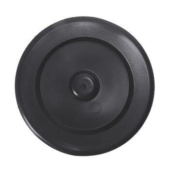 Fregadero de goma, desagüe, tapón de eliminación de basura, brida, 9cm de diámetro, negro