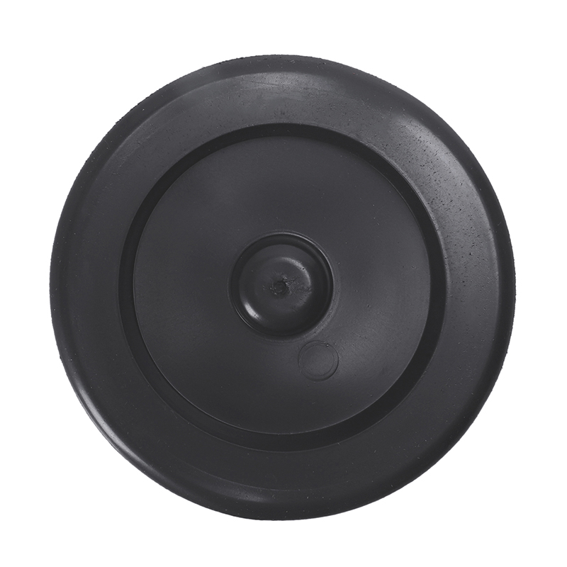 Rubber Sink Drain Garbage Disposal Plug Flange 9cm Diameter Black