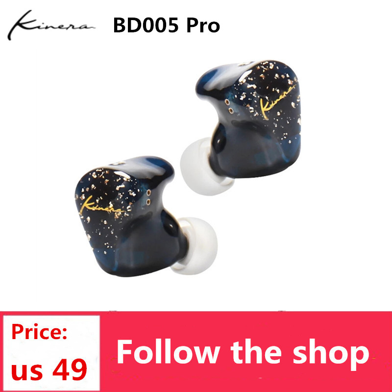 Kinera BD005 Pro Oortelefoon 1DD + 1BA Hybride Technologie Headset 0.78Mm 2Pin Oordopjes Voor Telefoon