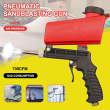 90psi Portable Gravity Sandblasting Gun Pneumatic tool Small Sand Blasting spray gun Adjustable Sandblaster