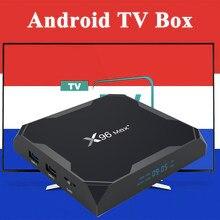 X96max + android caixa de tv caixa de tv inteligente apenas sem canais ou aplicativo incluído