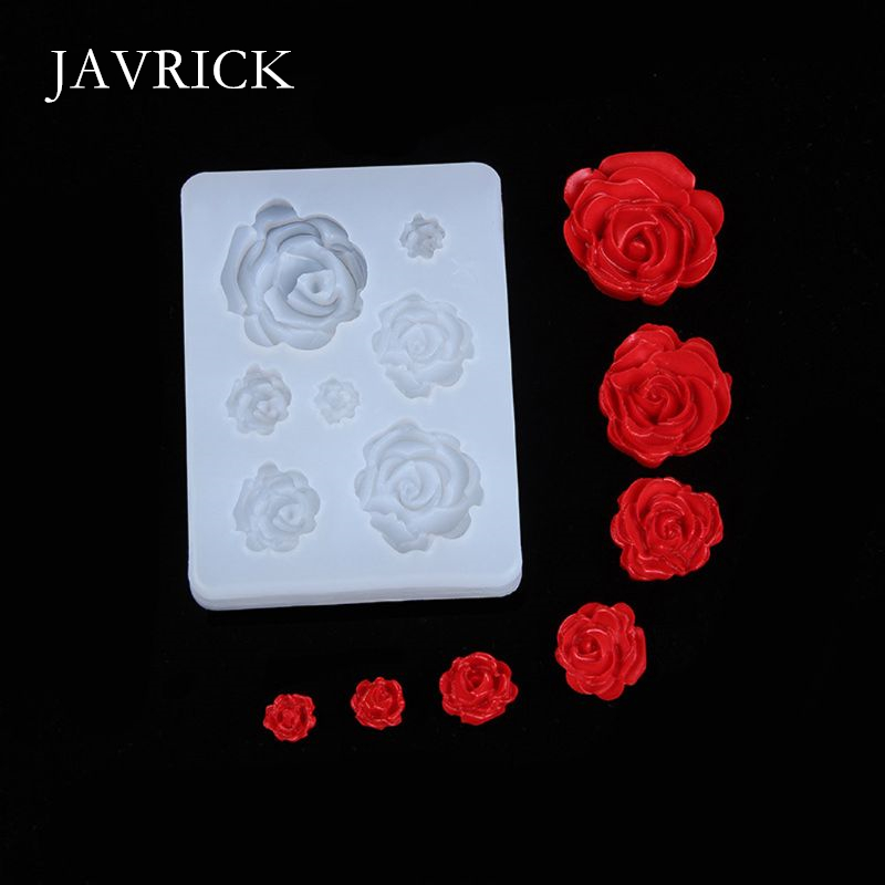 7 Sizes Resin Rose Flower Pendant Silicone Mold Resin Craft Tool DIY Pendant Accessories Jewelry Making Tool