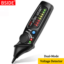 ללא מגע מתח גלאי מחוון BSIDE AVD06 מקצוע חכם מבחן עיפרון חי/שלב חוט נקודת עצירה NCV המשכיות Tester