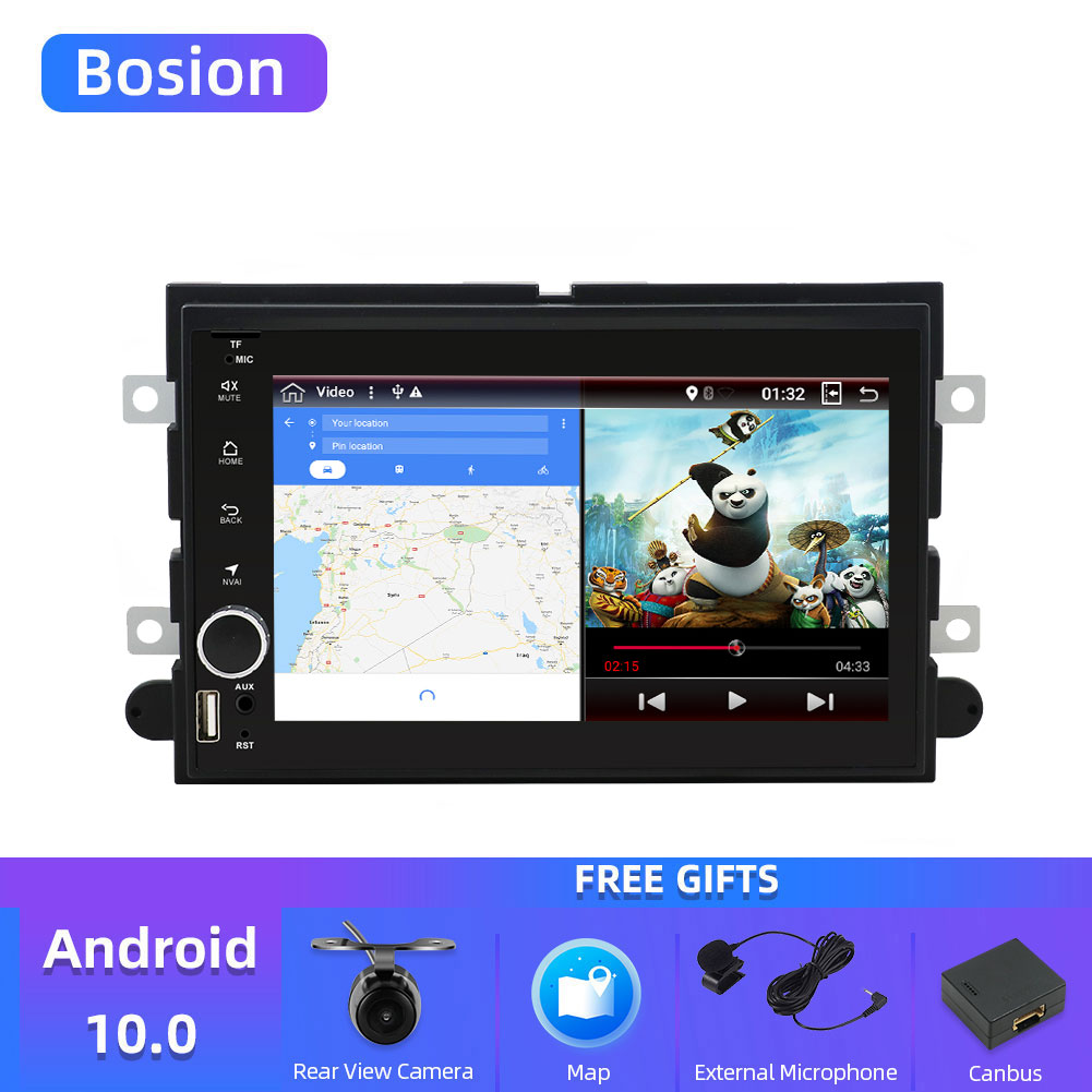 Bosion 2 din Android 10 For <font><b>Ford</b></font> Fusion Expedition Explorer F150 <font><b>Escape</b></font> Edge Mustang 2006-<font><b>2009</b></font> auto radio headunit SWC WIFI BT image
