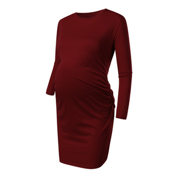 Maternity Dresses Casual Nursing Dress Autumn Pregnancy Clothes 1