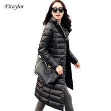 Fitaylor New Winter Women Jackets 90% White Duck Down Parkas