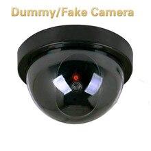 Камера с мигающий красный светодиодный свет Пластик Смарт в помещении/на открытом воздухе пустышка охранных купол поддельные Камера CCTV безопасности
