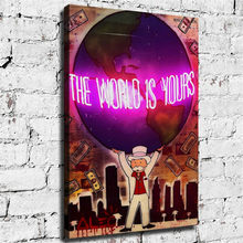 Alec Monopolys Kunst Graffiti Die Welt Ist Ihnen Poster, Malerei Leinwand Wohnzimmer Dekorative Wand Kunst Bilder Wohnkultur