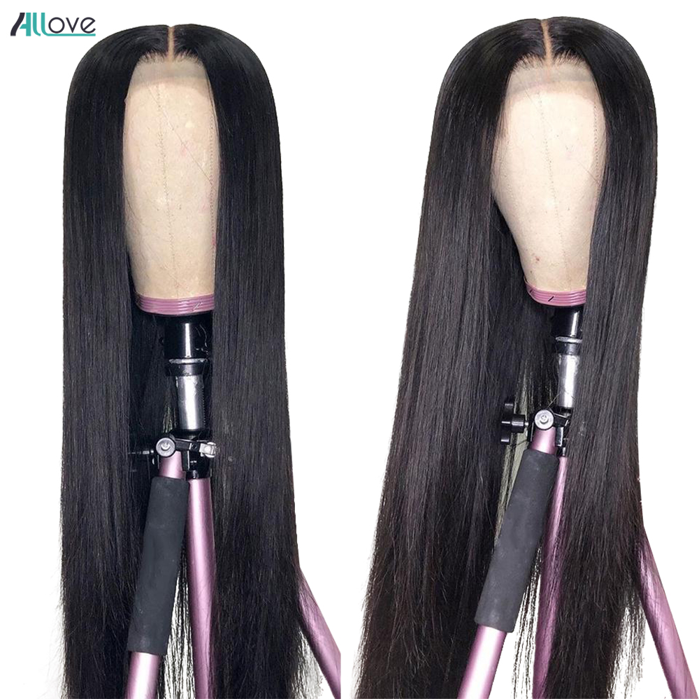 Allove Bone Straight Lace Front  Wigs for Black Women Transparent 13x4 Lace Frontal Wig  Closure Wig 3