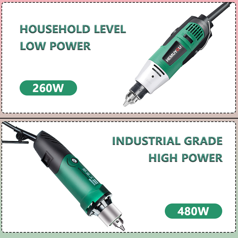 260W/480W high-power electric drill engraving machine with flexible shaft 6-position variable speed Dremel rotary power tool 3