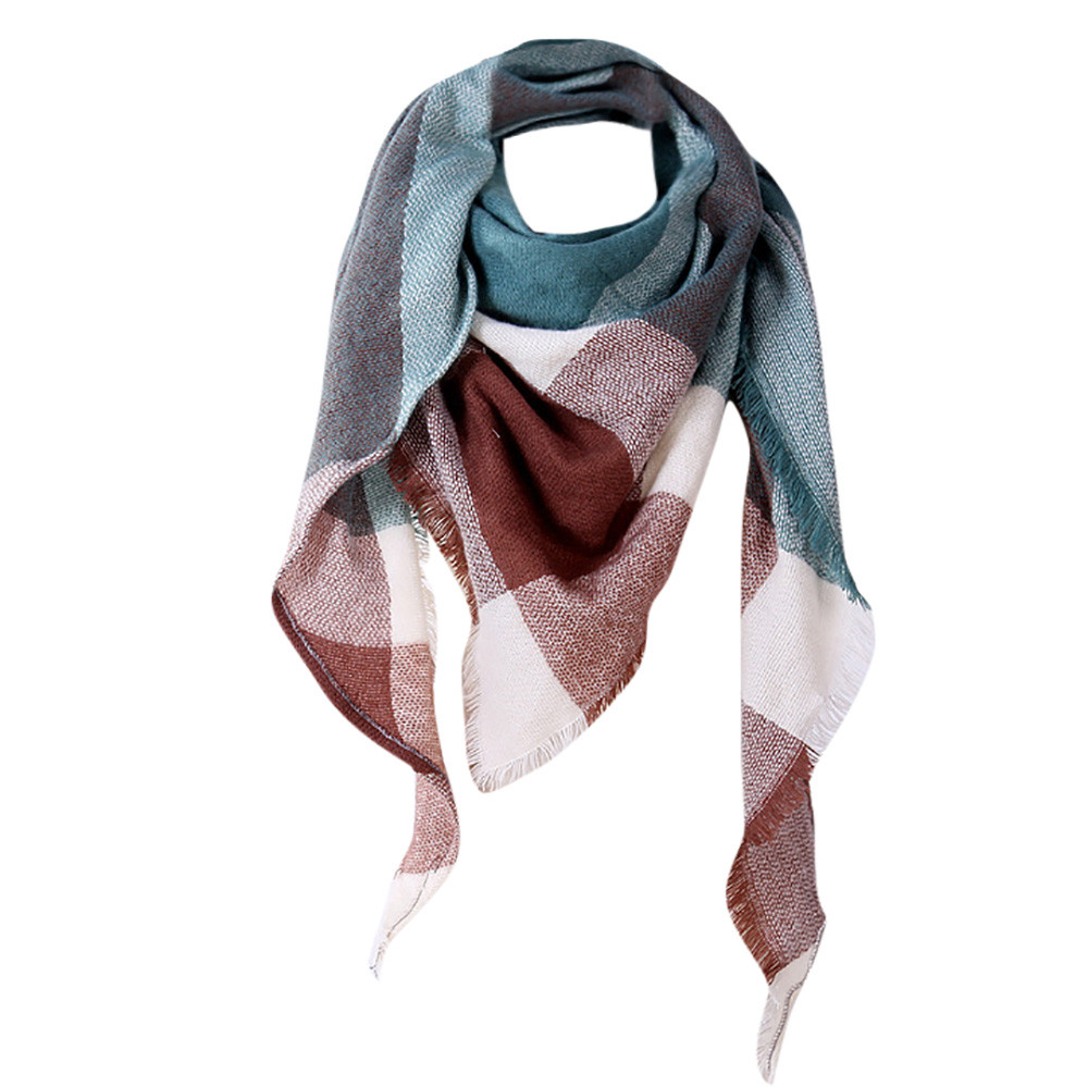 Fashion Women Shawl Cashmere Scarf Autumn Plaid Wool Scarves Scarf