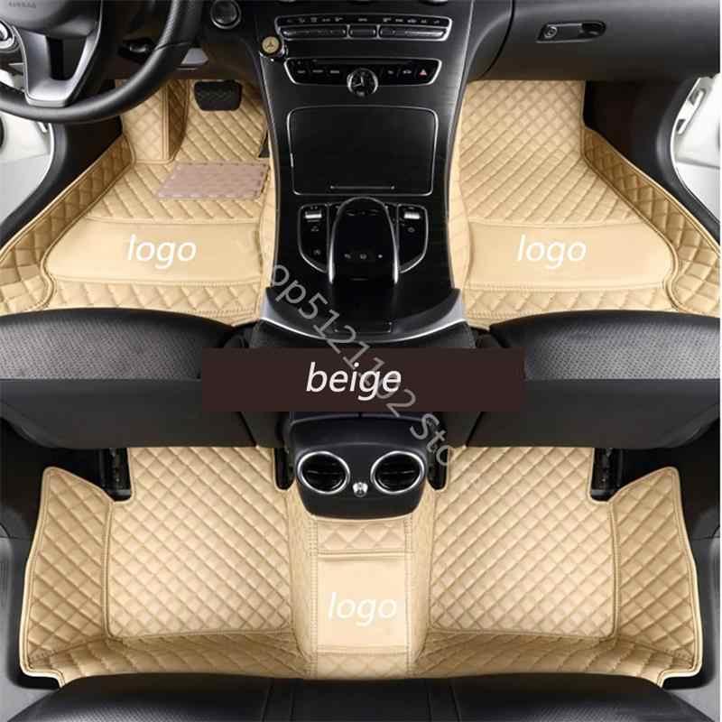 สำหรับ 2017-2019 Mercedes-Benz GLS350d GLS450 GLS500 GLS550 GLS63AMG Luxury custom car mats 10 สี