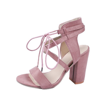 New Summer Womens Sandals High-heeled Thick-bottomed Shoes Europe and The United States Fashion Thick-soled Fish
