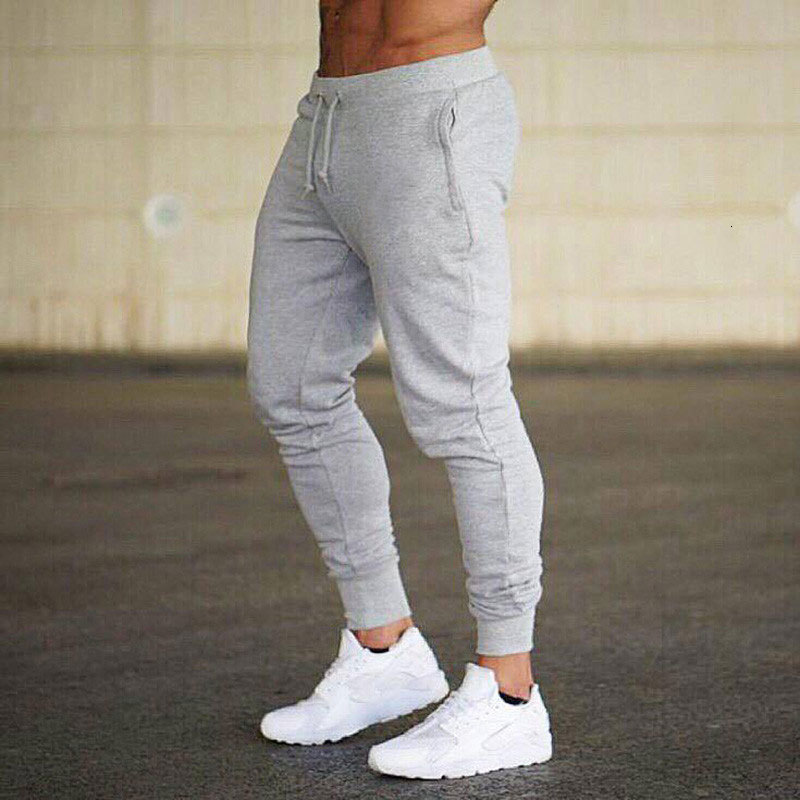 Mens Sports And Leisure Trousers Run Bodybuilding Football Pants Bound Feet Leisure Training Pants Male Elastic Long Trousers