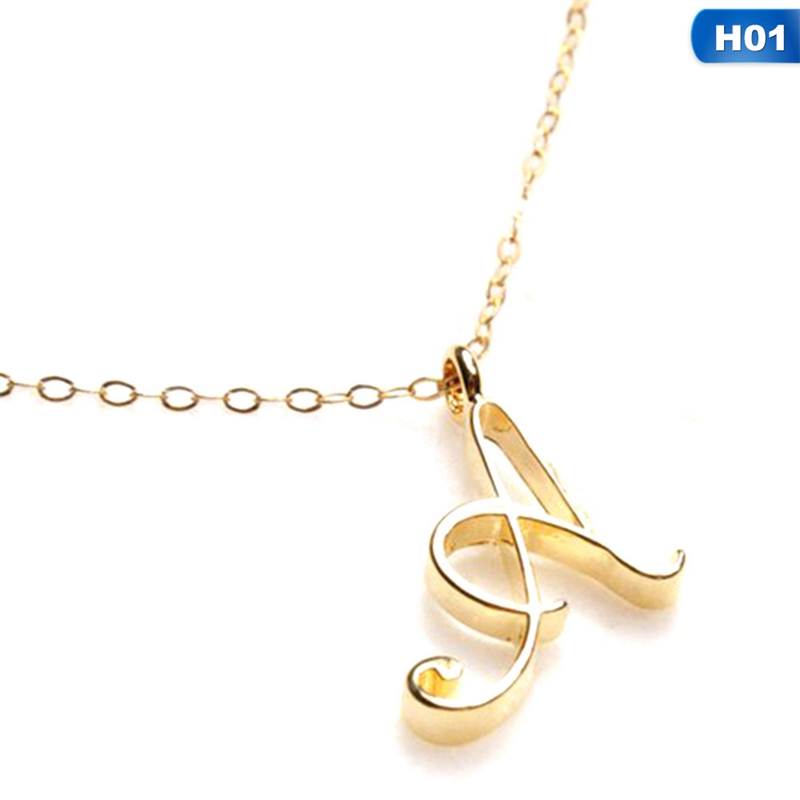 MoAndy Women Men Stainless Steel Initial Capital Letter B Pendant Necklace Gold