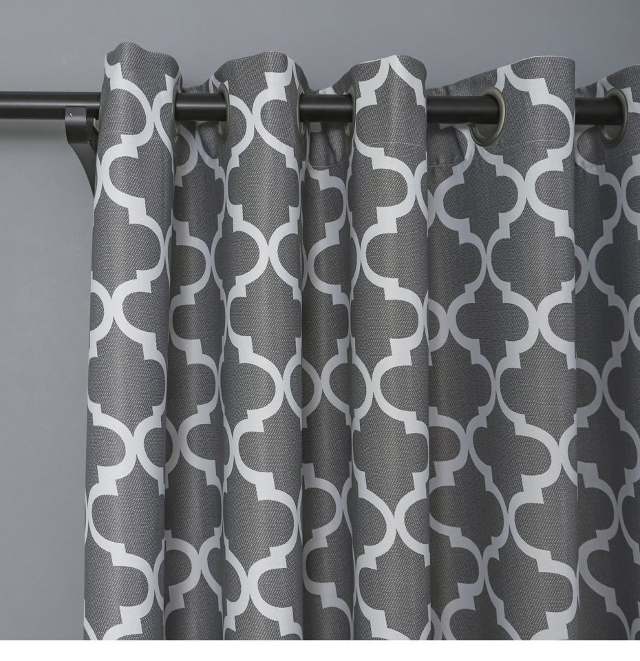 Geometric Patterns Printed Thermal Blackout Curtain Window Treatment Drapes  Curtains For Living Room Bedroom