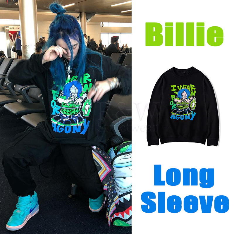 Billie Eilish Hoodie Long Sleeve Men And Women Spring Hiphop Streetwear Billy Irish