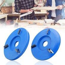 90 мм диаметр 16 мм Диаметр три зуба деревообрабатывающий турбо чайный лоток копания резьба по дереву дисковый Инструмент Фреза