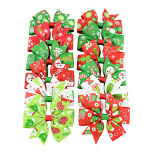 2019 Christmas Bow Baby Hair Accessories 12 Pcs/Lot Santa Claus Headdress Kid Clips Gift for Girl Child Pins