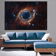 Cosmic space and starry sky planet canvas paintings and posters for home living room art picture decoration frameless paintings