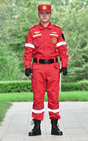 Reflective Safety Overalls Emergency Rescue Clothing Suit Protective Jacket And Pants Police Firemen Work Wear Uniform With Belt