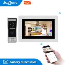 7 Inch Wifi Ip Video Deurtelefoon Intercom Wired Deurbel Deur Speaker Toegangscontrole Systeem Touch Screen Bewegingsdetectie