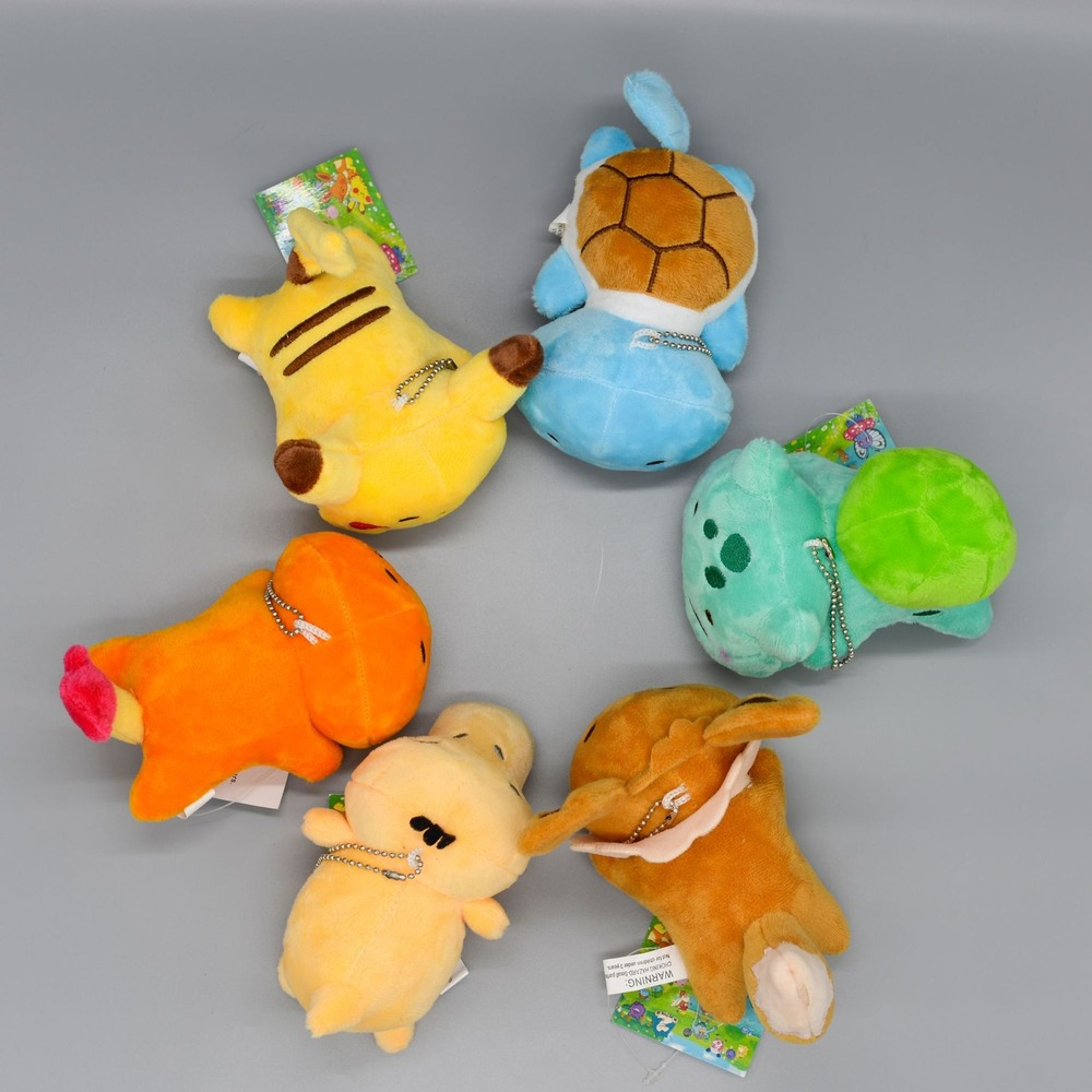New Pokemon Pikachu Plush Keychain Collection