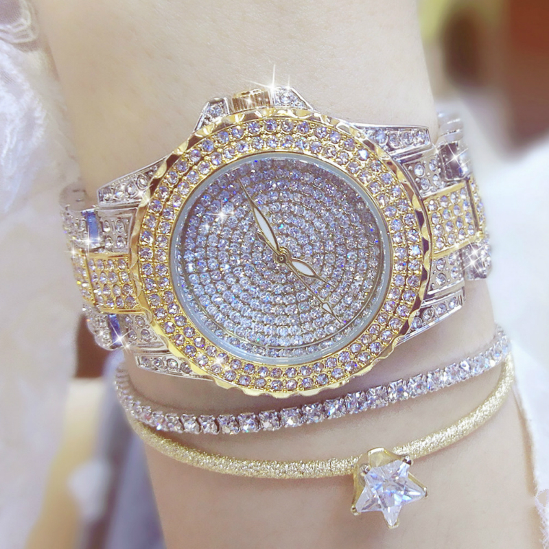 Fashion Crystal Women Watches Dress Quartz Watch Women Rhinestone Casual Wristwatch Reloje Mujer Relogio Feminino Ladies Watch
