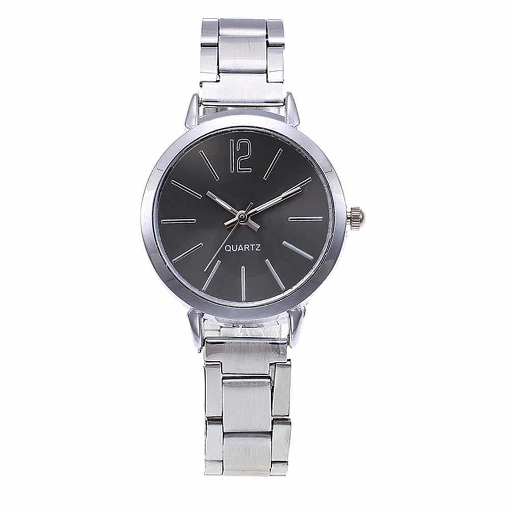 Kadın saatler Casual kuvars paslanmaz çelik şerit Quartz saat mermer kayış kol saati marka moda spor bayanlar saat dijital