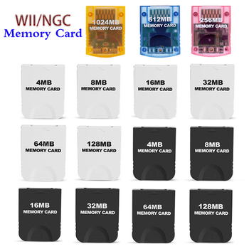1024MB 512MB 256MB 128MB 64MB 32MB 8MB 4MB Memory Card For Wii Gamecube Game Cube NGC GC image