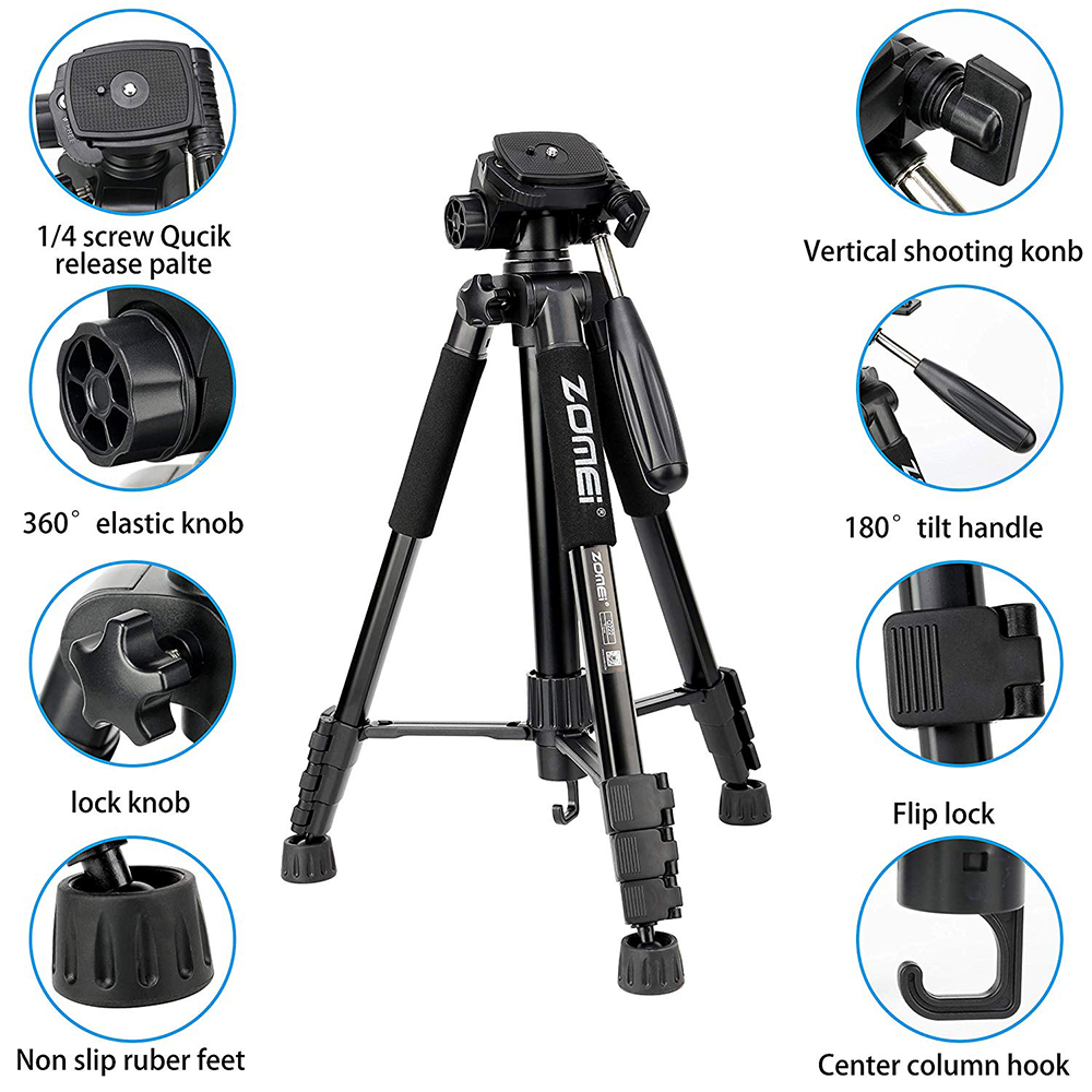 Image 2 - Cadiso Q222 Professional Video Photo Camera Tripod Flexible 