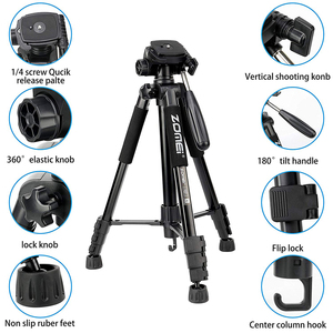 Image 2 - Cadiso Q222 Professional Video Photo Camera Tripod Flexible Photographic Tourism Travel Stand with Monopod for DSLR Camera Phone