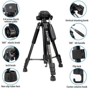Image 2 - Cadiso Q222 المهنية فيديو كاميرا فوتوغرافية ترايبود مرنة التصوير السياحة السفر حامل مع Monopod ل DSLR هاتف مزود بكاميرا