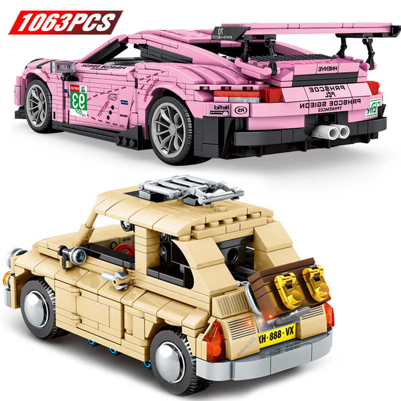 DIY Technic Super Drift Car Building Blocks Classic Speed Champion Static Vehicle Model Brick Toy Children's Christmas Gift