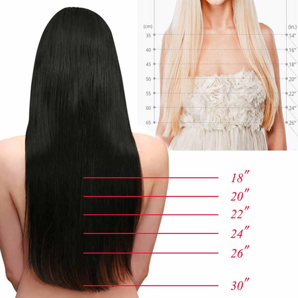 S-noilite دبابيس داخل وصلات الشعر المستعار الأسود البني الطبيعي مستقيم 58-76 سنتيمتر طويلة عالية Tempreture تطويلة شعر من الألياف هيربيسي