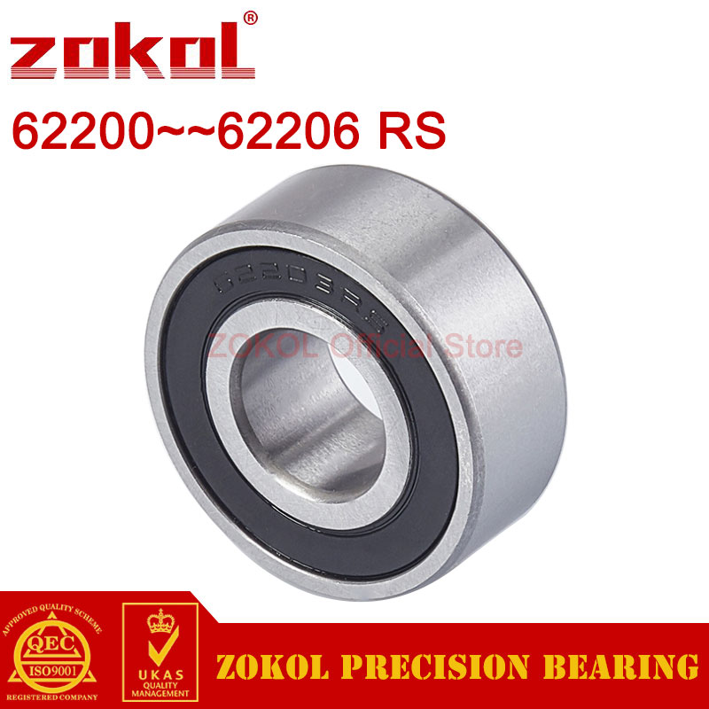 ZOKOL 62200 62201 62202 62203 62204 62205 62206 RS 2RS Thickened bearings Deep Groove ball bearing