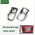 Для Ford F-150 2015-2019 аксессуары АБС ХРОМ передние задние противотуманные фары крышка рамка отделка наружное украшение автомобиля Стайлинг 2 шт