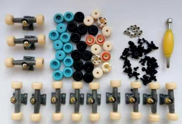 12PCS Tech Deck Truck Wheel For 96mm Fingerborad Skateboard accessories